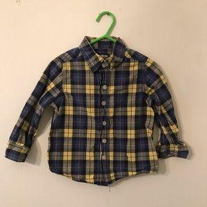 Oshkosh B'gosh long sleeve plaid shirt